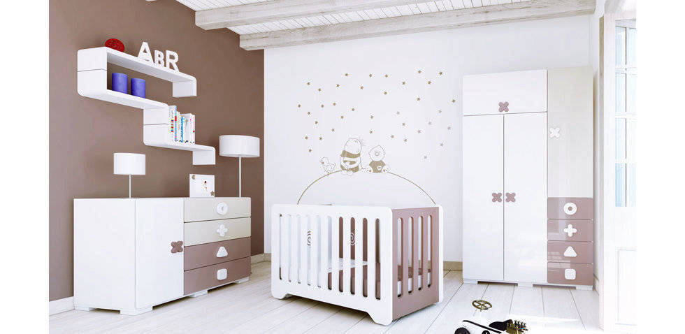 Chambre b b chocolat for Exemple deco chambre bebe