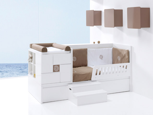 lit b b volutif avec tiroirs. Black Bedroom Furniture Sets. Home Design Ideas